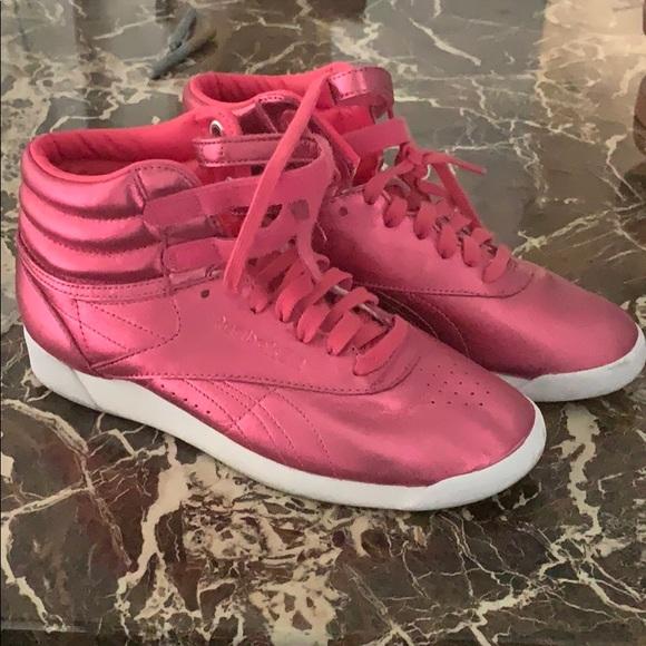 Reebok Shoes | Metallic Pink Princess S